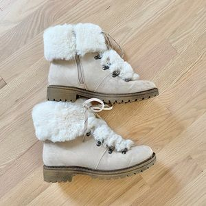 Shoes - Size 9.5 faux fur boots from target